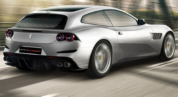 a parigi la nuova ferrari a 4 posti la gtc4lusso t ora ha il v8 turbo. Black Bedroom Furniture Sets. Home Design Ideas