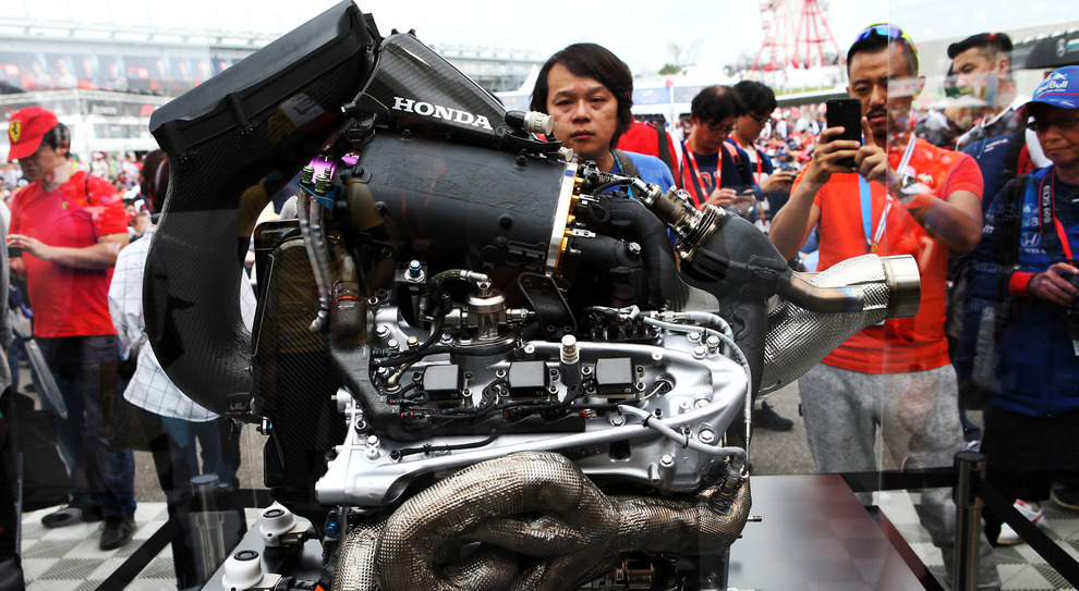 Nella foto, la power unit Honda