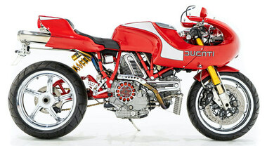 "Ducati MH900e, all'asta in Canada la ""concept"" tributo alla Mike Hailwood Replica"